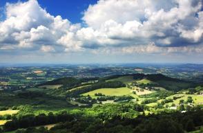 The rolling Devon hills